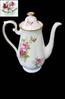 Royal Albert AMERICAN BEAUTY Large 6 Cup Coffee / Tea Pot 1st Eng