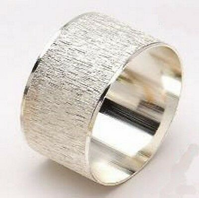 Silver Textured Napkin Rings  in sets of 4, 6 or 8