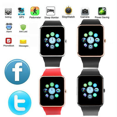GT08 Bluetooth Smart Watch SIM Phone Mate for iPhone IOS Android Samsung HTC Lot