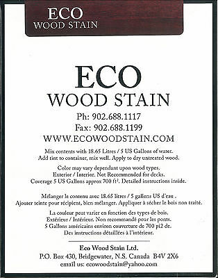 ECO WOOD STAIN 5 GALLON RED by Intl Eco Wood Treatment