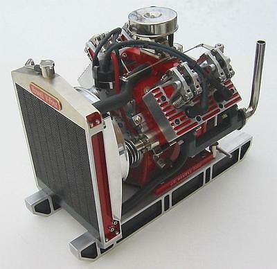 V4 Internal Combustion Model Engine Plans