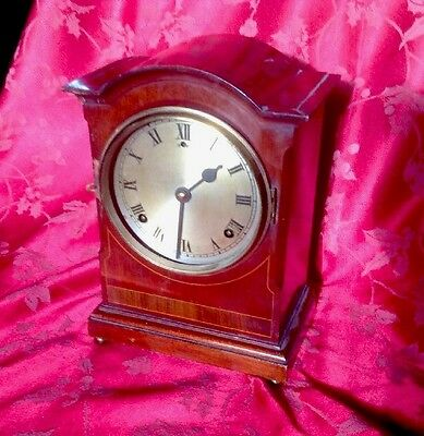Edwardian American Gilbert Mantel Clock For Restoration Nice Movement