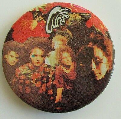 THE CURE LARGE VINTAGE METAL PIN BADGE FROM THE 1980's / 90's CLOSE TO ME