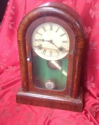 American Gilbert Gingerbread Type Mantel Clock For Restoration Nice Movement