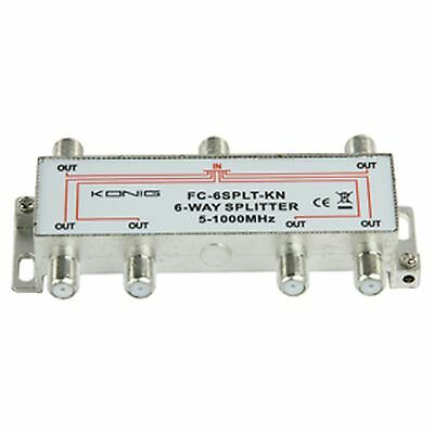 6 WAY F-SPLITTER 5-1000MHz KONIG