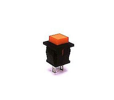 Switch:push-button  OFF-(ON) nonfixed, 2pins. 1A/250VAC SPST-NO 11x18mm, black