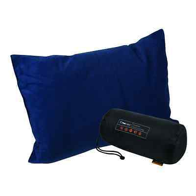 TREKMATES Deluxe Lightweight Camping/Travel Pillow Navy Blue