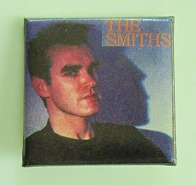 THE SMITHS MORRISSEY OLD SQUARE  SHAPED PIN BADGE FROM THE 1980's / 90's