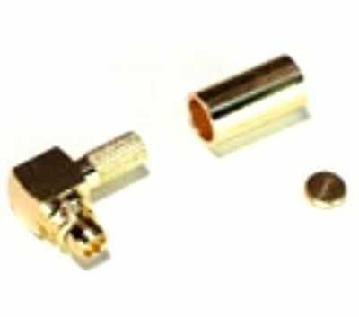 Connector MMCX plugcrimped 50ohm RG174