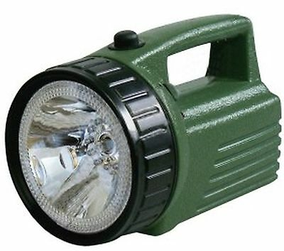 Rechargeable flashlight with halogen lamp and 12LED