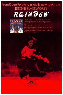 Rainbow POSTER Ritchie Blackmore **MUST SEE** Ronnie James Dio ex Deep Purple