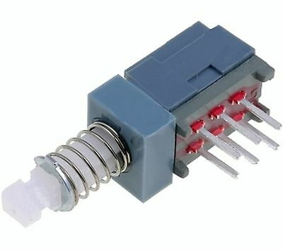 Switch:microswitch bistable DPDT 0.1A/30VDC Rcont max:50m#