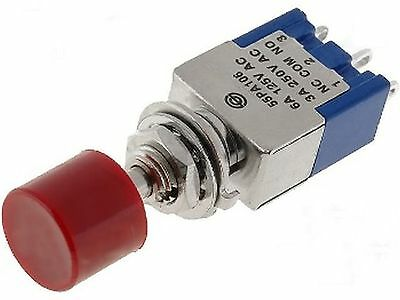 Switch: push-button  ON-(ON), nonfixed, 3pins. 3A/250VAC SPDT dia