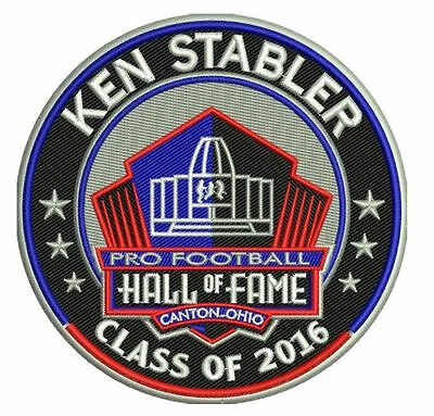 Pro Football Hall Of Fame Patch Ken Stabler Oakland Raiders Induction 2016 Hof