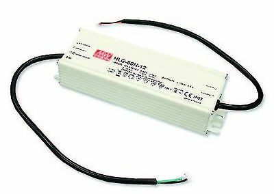80W high efficiency LED power supply 12V 5A with PFC, with dimming function