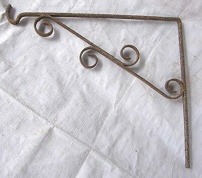 Vintage Wrought Iron Plant Lantern Bird Feeder Cage Hook Hanger Wall Bracket