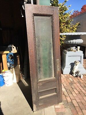 "Ar 138 Antique Oak Entrance Door 28"" X 83.5 Beveled Glass"
