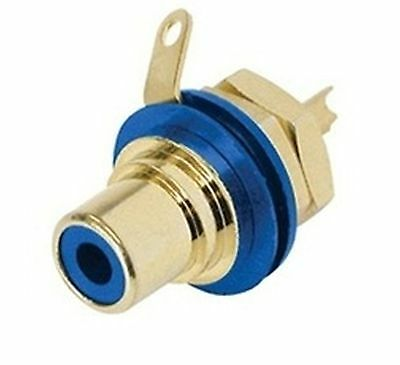 Jack RCA blue, schielded, panel mount NEUTRIK-REAN