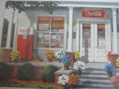 "Set of 4 Coca-Cola ""Store Front"" Reversible Place Mats - FREE SHIPPING"
