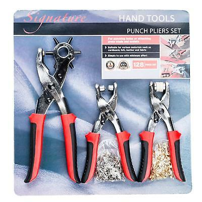 Revolving Leather Hand Hole Punch Multi Size Heavy Duty Rotary Puncher Tool Set