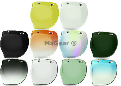 Bell Custom 500 3 Snap Bubble Replacement Shield All Colors Helmet Motorcycle