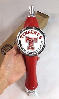 Tennent's Original Export Lager Beer Tap Handle Tall Bar Mancave NEW in BOX