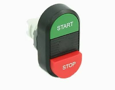 Modular double pushbutton, green-red, dia 22mm ABB