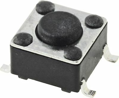 Tact swich  OFF-(ON) nonfixed  4pins  0.05A/12 VDC  SPST-NO  6x6mm, SMT  H=4.3mm