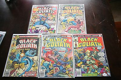 Black Goliath (1976) 1 first Solo Appearance KEY ISSUE 2-5 complete series!