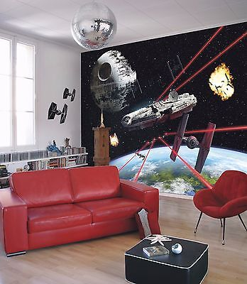 Wall Mural Photo Wallpaper STAR WARS MILLENIUM FALCON Kids Room DECOR 368x254cm