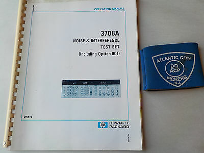 Hewlett Packard 3708B Noise & Interference Test Set Operating Manual