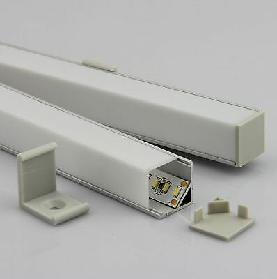 Cover for Aluminum LED strips profile SR16, angular, frosted, length 1m