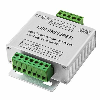 LED RGBW strip signal amplifier 12V-24Vdc 4x6A 12V/288W