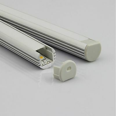 Anodized aluminum profile for LED strips, round, length 1m