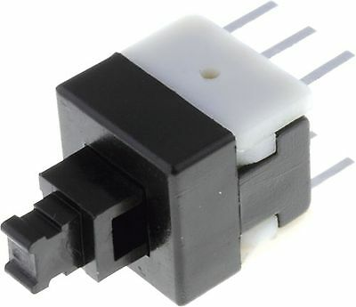 Switch:push-button  ON-(ON) nonfixed, 6pins. 0.1A/30VDC 08x0.8mm
