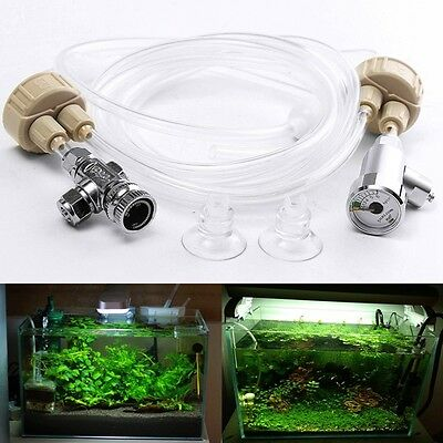 New DIY CO2 Generator System Kit Aquarium Water Plants Necessity Carbon Dioxide