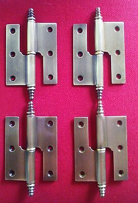 4 brown brass hinges 31/2 inches