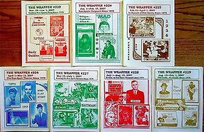 THE WRAPPER Non-Sports Collectibles-7 issues from 2007 VG++BestOfferFreeShipping