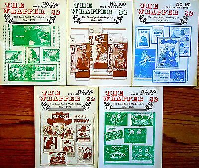 THE WRAPPER Non-Sports Collectibles-5 issues from 1999 VG++BestOfferFreeShipping