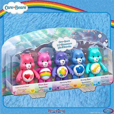Care Bears Articulated Figures 5-Pack - Love-a-Lot Cheer Harmony Grumpy & Wish