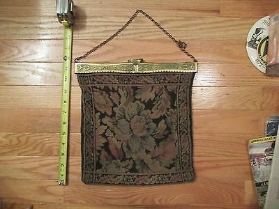 Victorian ? antique vintage old purse bag clutch chain