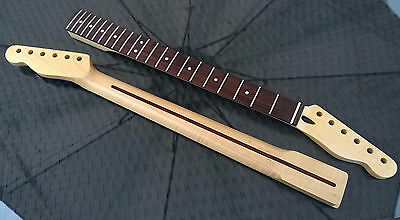 Telecaster Maple Tele Neck, 22 fret Rosewood Fingerboard, Clear Satin Nitro NEW