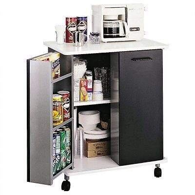 Safco Products 8963BL Refreshment Hospitality Cart, Black