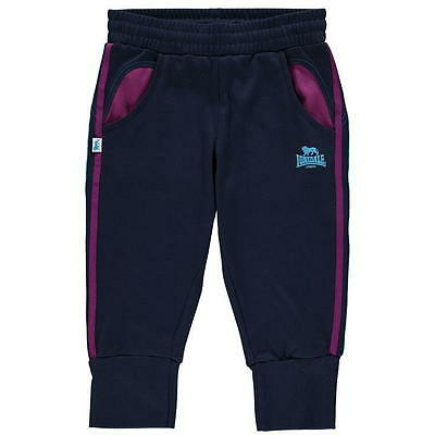 Lonsdale 2 Stripe Three Quarter Jogging Bottoms Junior Girls 11-12 (LG)