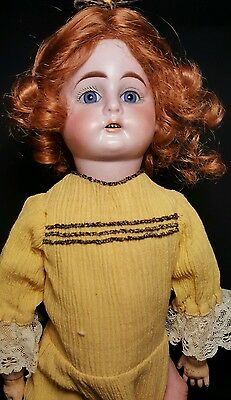 "16.5"" Rare ""Oily"" Bisque Antique Doll By Cuno Otto & Dressel"