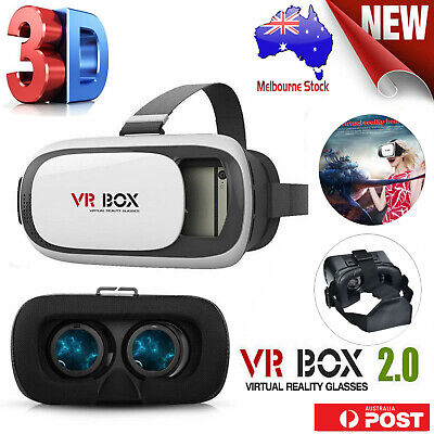 Universal 3D VR BOX Virtual Reality V2.0 Glasses Headset for iphone 7 6 S7