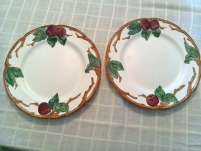 """2 Franciscan Apple Pattern Dinner Plates California 10 5/8"""" Excellent Condition!"""