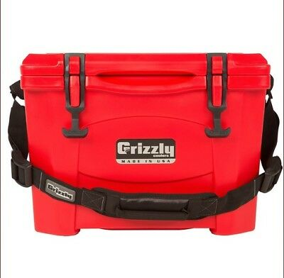 NEW Grizzly G15_RD 15QT Cooler with RotoTough Molded Construction - Red