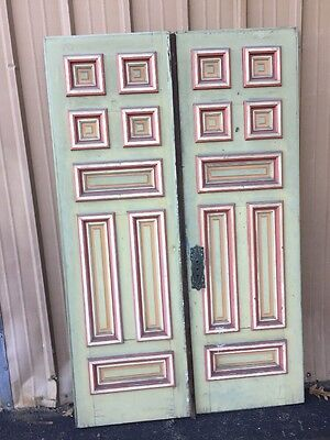 Cm 95 One Pair Antique Victorian Double Door Set