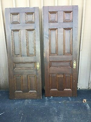 "Cm 99 Two Available Price To Each Antique Raise Panel Pine Door 30"" X 80"""